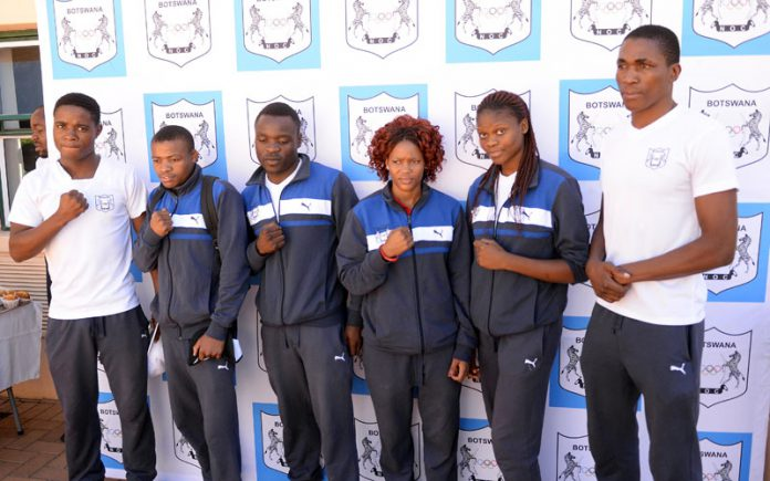 THE BOTSWANA BOXING NATIONAL TEAM